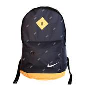 Молодежный рюкзак портфель синего цвета с бежевыми вставками (S-05)