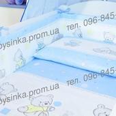 комплект постельного белья простынь наволочка пододеяльник защита защитное- Мишки игрушки