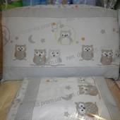 высокая защита в детскую кроватку защитное ограждение бампер бортики на молнии и постель Совята