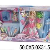 """Кукла типа """"Барби """"Модельер"""" с куколкой, платьем, аксесс, фломастер"""