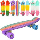 Скейт пенни MS0746 , 55 14, 5см, алюм. подвеска, колеса Пу,