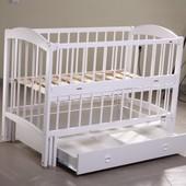 Кузя Лилия детская кроватка на маятнике с ящиком