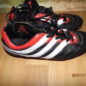 (№і326)фирменные кожаные бутсы Adidas 41-42 р UK 8