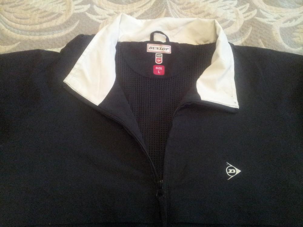 Спортивная рубашка из плащевки на подкладке в сетку с рукавом до локтя р-р 52-54, бренд Dunlop фото №1