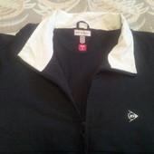Спортивная рубашка из плащевки на подкладке в сетку с рукавом до локтя р-р 52-54, бренд Dunlop