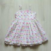 Шикарное нарядное платье для принцессы. Внутри на подкладке. Cherokee. Размер 9-12 месяцев