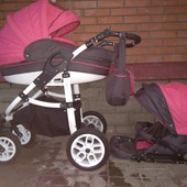 Красивенная колясочка 2в1 Baby Marlen жаккард