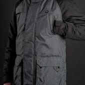 Куртка парка удлиненная пальто зимнее мужское стильное
