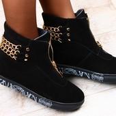 Стильные ботиночки  Натуральный замш и кожа