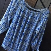 Модная блузка арнамент м - хл