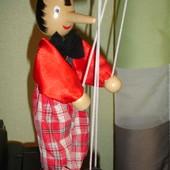 Кукла Пиноккио (Буратино) дерево и текстиль