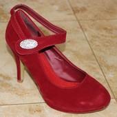 Туфли на липучке 2 цвета Т796