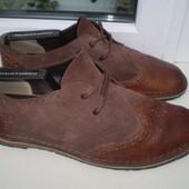 туфли броги Clarks р. 8 F, стелька 27. 5 см