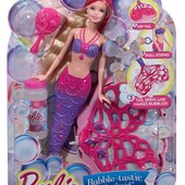 Кукла Барби русалка Волшебные пузыри