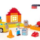 Mega Bloks Юные строители cтройка building blocks cool construction site DCK76