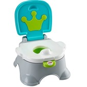 Fisher-Price Горшок музыкальный Королевский трон 3 в 1 stepstool potty, royal
