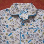Байковая пижама Rebel на 6-7 лет, б/у. Хорошее состояние, без пятен. Штаны - длина 67 см, шаговый 47