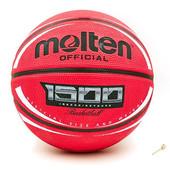 Мяч баскетбольный резиновый Molten B7RD-1500 Red: размер №7, резина, бутил