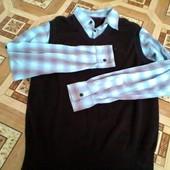 Жилетка и рубашка, обманка на мужчину 48-50 р