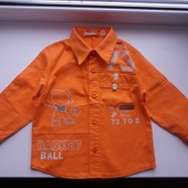 Рубашка р. 92см Mc Tintini Турция хлопок