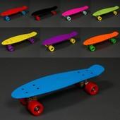 Скейт 780 Однотонный, Без света, длина доски 55см, колёса PU - d=6см