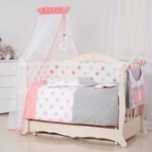 Детская постель Twins Stars 3D 9 эл S-002 coral