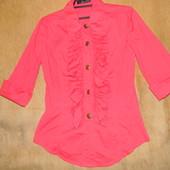 Красивая блузка XS S цвет коралл!