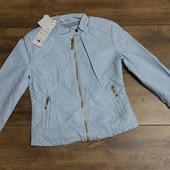 Весенняя куртка голубой, бежевый