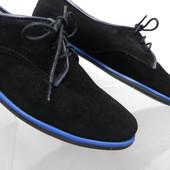 Замшевые туфли на шнурках 36,37,40 р