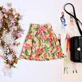 Женская юбка клеш в цветочки