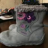 Теплые, демисезонные ботинки Geox 24 (15 см)