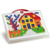 Набор - Для Занятий Мозаикой квадр. и треуг. фишки 300 шт. доска 28х20, переносной в нетоварной упак
