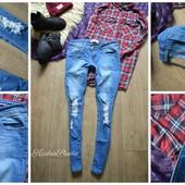 Рваные джинсы-скинни Boohoo,р-р М