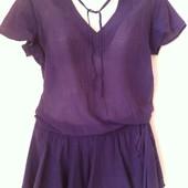 Легкое батистовое платье-туника Mango L