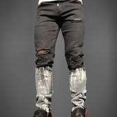 Джинсы Jeans Black White 1027, р. м,л,ххл, код mvvk-2-4
