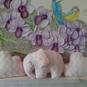 Детская подушка слоник тучка