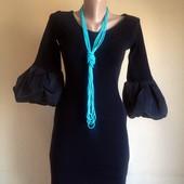 Элегантное теплое трикотажное платье с красивым рукавом от baby phat (сша)
