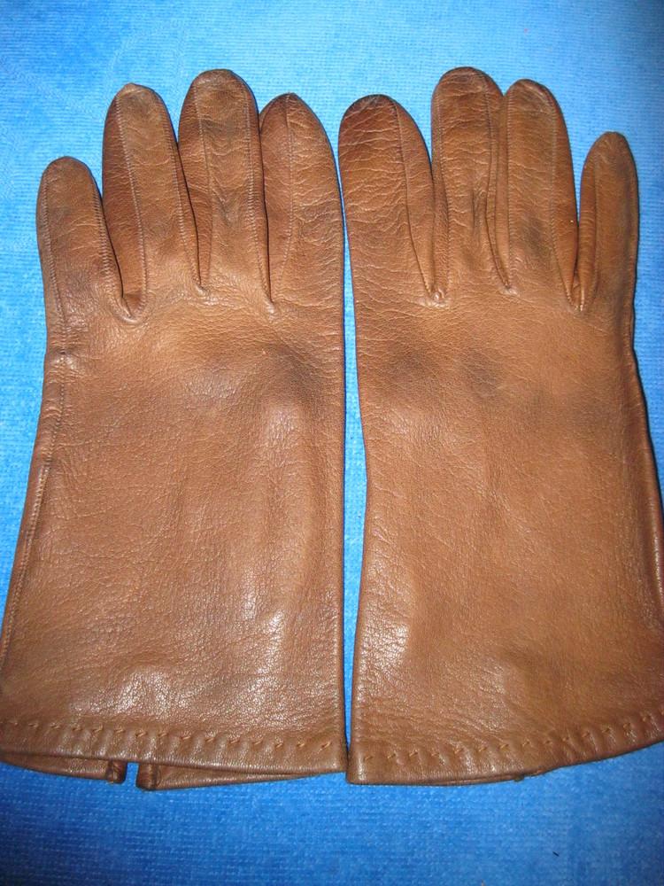 Отличные, перчатки натуральная кожа. фото №1