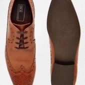 Мужские туфли 100% кожа ASOS 44 р