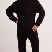 Комбинезон мужской Черный флис