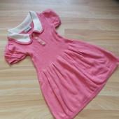 Фирмнное теплое платье Next малышке 1-1.5 года сотсояние отличное