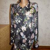 Select блузка атласная стильная модная р14