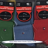 Носки мужские Tommy Hilfiger Athletic Climalite, 40-46 р., деми, х/б, средние, цветное ассорти