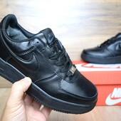 Зимние кроссовки Nike Air Force black