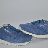 "Кроссовки Reebok classik leather np ""collegiate navy"""