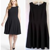 Коктейльное черное платье юбка клеш большой размер