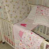 защита бампер  бортики в манеж постелька