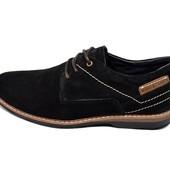 Мужские туфли замша Multi Shoes ml черные
