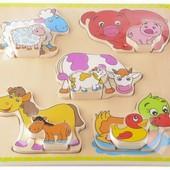 Пазл объемный «Животные с малышами», Lelin 22-043