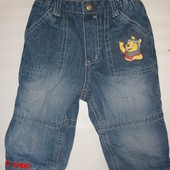 джинсы на флисе на 9-12 мес